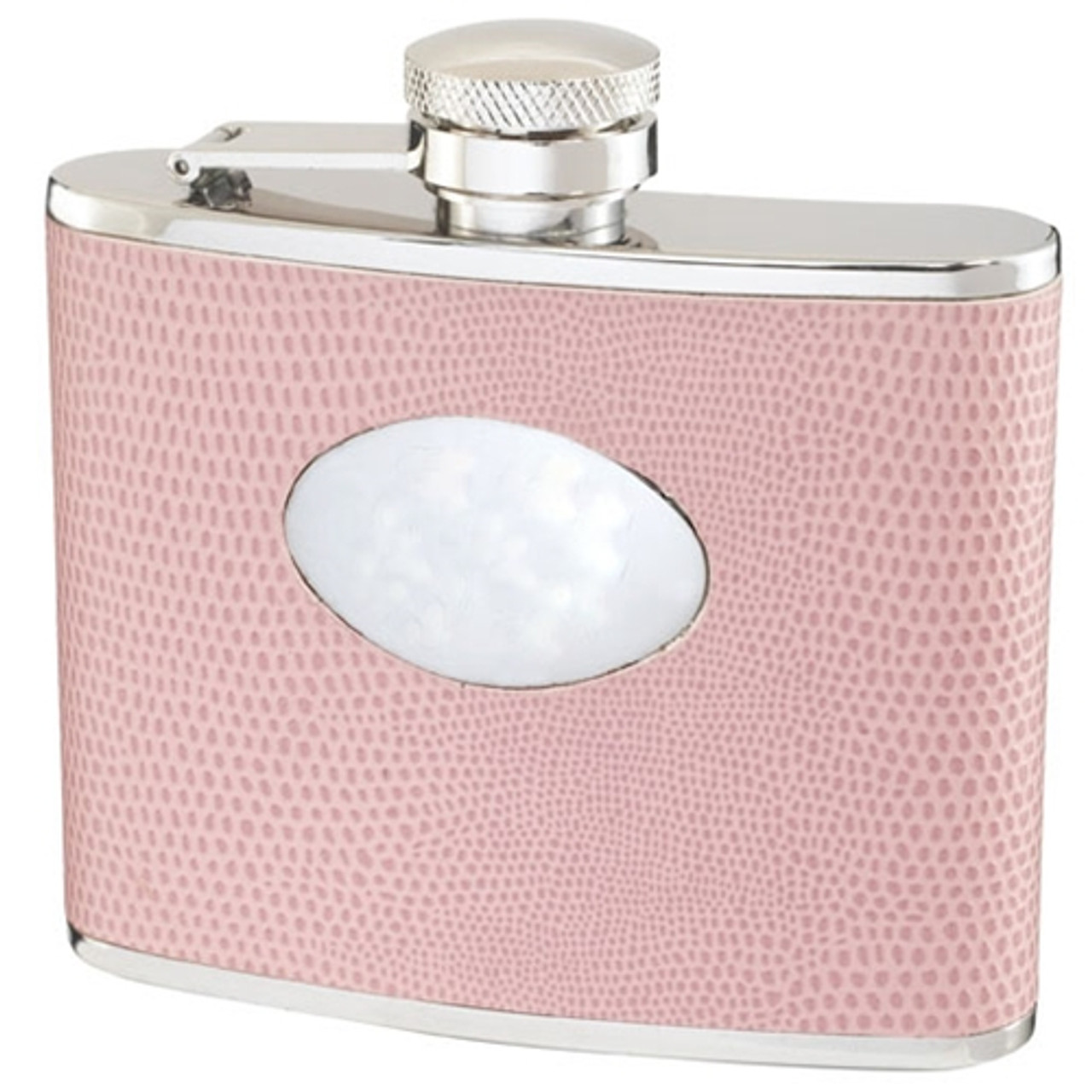 Visol Aruba Light Pink Snakeskin Hip Flask 4oz Vf1185 Visol