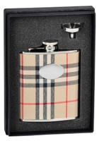 Flasks Flask Gift Sets Plaid Flask Gift Sets Visol