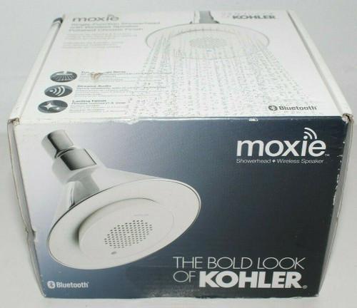 KOHLER Moxie 2.5 GPM Shower Head w/ Bluetooth Wireless Speaker 9245-CP -New