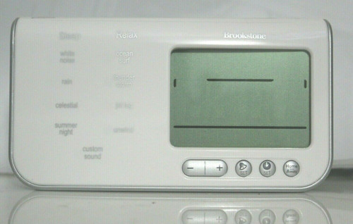 Brookstone 590877 Travel Tranquil Moments Alarm Clock Sleep Sounds Machine -Used