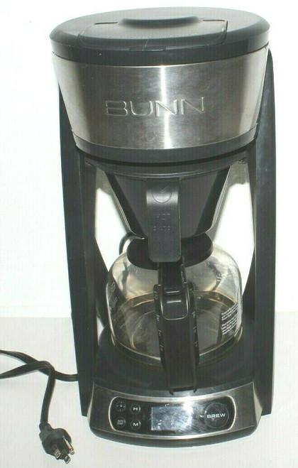 BUNN HB 10 Cup Heat N Brew Programmable Coffee Maker Black. - Used 0999