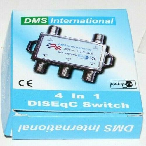 DiSEqC Switch 4x1 Satellite Dish LNB Switch - New