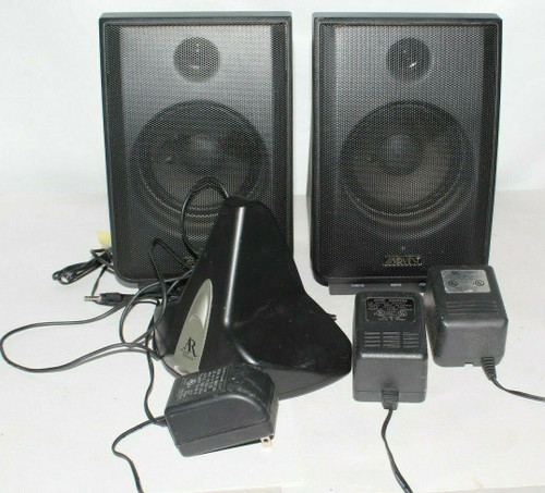 2X Advent Recoton Wireless Speakers CLV-A900R W/AR Transmitter & Adapters - Used