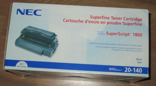 Genuine NEC Superscript 1800 Toner Cartridge 20-140 Ink -New