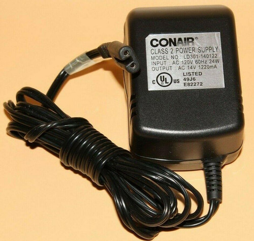Conair 14V AC 1220mA Power Adapter / Power Supply - 14VAC - 1.22 Amp - Used