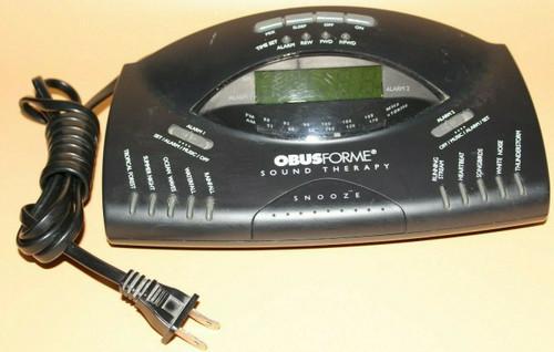 Obusforme CN-STS AM/FM Radio Alarm Clock 10 Sound Therapy - Used