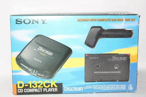 Sony D132CK Portable CD Player With complete Car kit - New