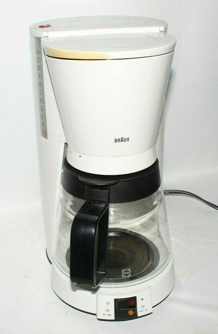 Braun Flavor Select 12 Cup Coffee Maker White Type 3096 - Used