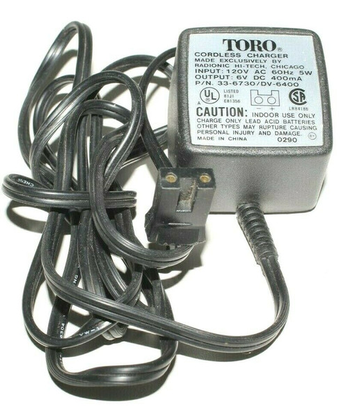 Genuine Toro battery charger 33-6730  336730 AC Adapter 336730/ DV6400 - Used