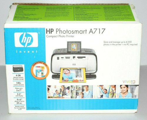 HP Photosmart A717 Bluetooth Digital Portable Photo Inkjet Printer - Open Box