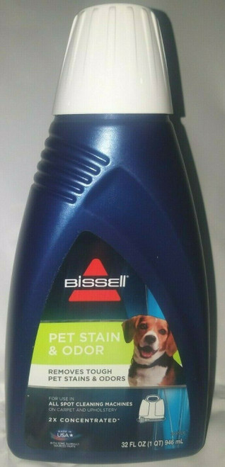 BISSELL 2X Pet Stain & Odor Portable Carpet Cleaning Machine Formula 32oz - New