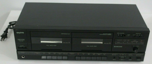 Vintage Sanyo RD W389 Dual Cassette Tape Deck - Used
