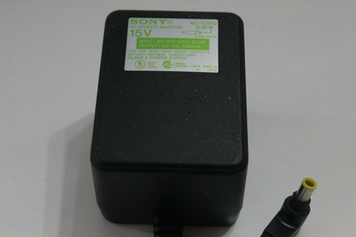 Sony AC-S1510  Mini-disc Home Desktop AC Power Adapter 25.5 watt 15V - Used