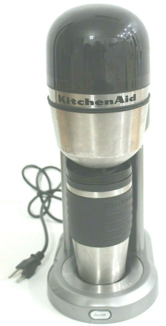 KitchenAid Personal Travel Mug Coffee Maker Black/Silver  KCM0402CU0 - Used