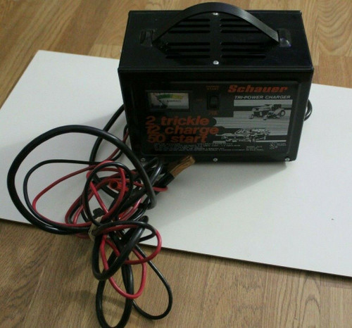 SCHAUER J512 BATTERY CHARGER/STARTER  2/12/50.AMP 12V - Used