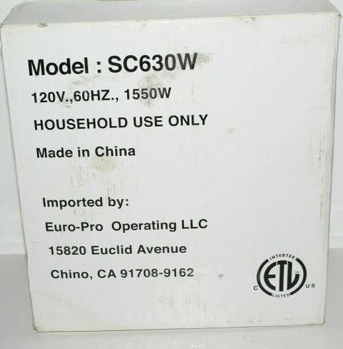 Shark SC630W Steam Pocket Multi Purpose Steam Cleaner Euro-Pro  - NOB