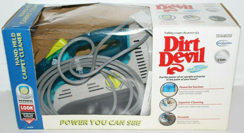 Dirt Devil Spot Carpet Upholstery Shampooer Cleaner Handheld Vacuum- New OB 1349