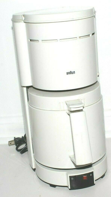 Braun 10 Cup Coffee Maker Thermal 4094 White Made in Germany - Used  0719