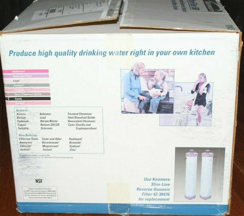 Kenmore UltraFilter 500 Reverse Osmosis Water Filtration System - New Open