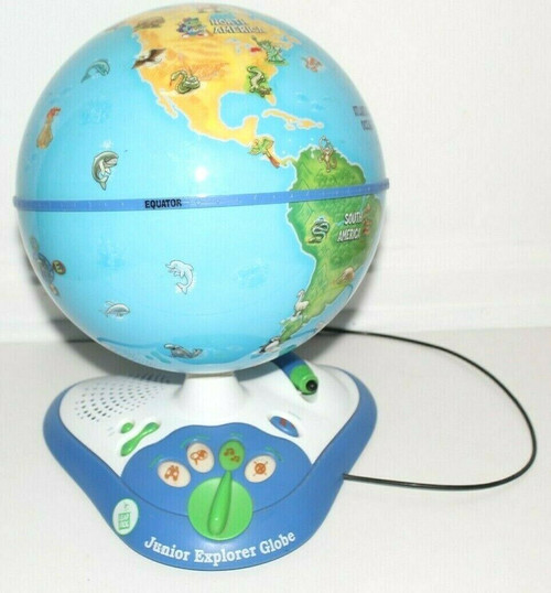 Leap Frog Junior Explorer Globe Electronic Interactive Learning Talking - Used