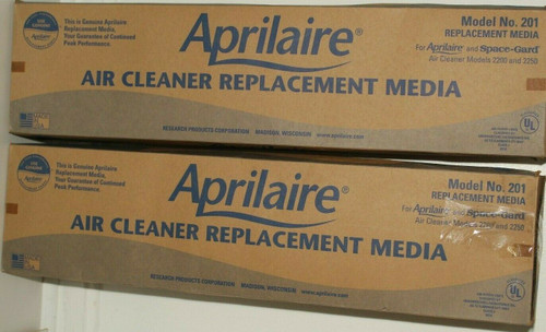 2 Aprilaire 201  Replacement Media Filter - MERV 10  2200 & 2250 - Used