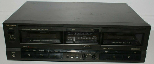 Technics RS-TR255 Stereo Dual Cassette Tape Deck  Recorder Auto-Reverse - Used