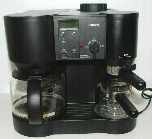 Krups 867 Cafe Bistro 10-cup Coffee Combo 4-cup Espresso Maker - Used   01799