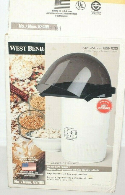 Vintage West Bend 82405 Hot Air Corn Popper Coffee Roaster Poppery - Open Box