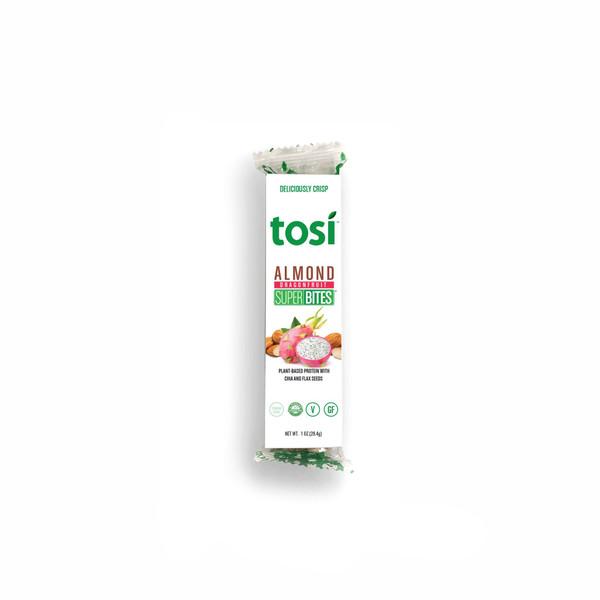 Tosi SuperBites Singles - Almond Dragon Fruit - 12 pack | 1 oz. bars