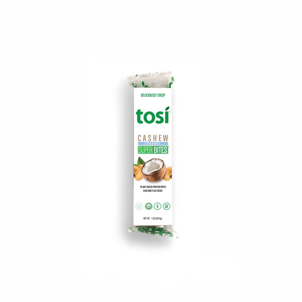 Tosi SuperBites Singles - Cashew Coconut - 12 pack | 1 oz. bars