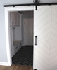White Diamond Barn Door To Laundry Room