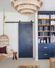 Modern Diamond Door In Dark Navy Blue Boho Styling