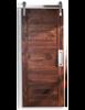 wood walnut horizontal full panel barn door