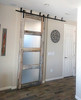 Reclaimed Wood 4 Panel Frosted Glass Sliding Barn Door