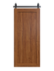stained wood full panel barn door