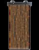 reclaimed wood brown vertical barn door