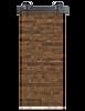 reclaimed wood brown horizontal barn door