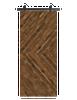 reclaimed wood brown horizontal double herringbone barn door