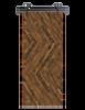 reclaimed wood brown triple diagonal barn door