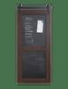 sliding barn door with chalkboard magnetic panels