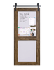 2 panel wood magnetic and whiteboard barn door