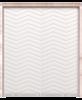 white painted wood double barn door with triple herringbone pattern