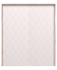 scandinavian white painted wood double barn door with etched diamond design