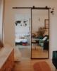 The Fillmore Custom Steel Frame Mirror Sliding Barn Door