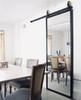 simple clean design metal framed mirror custom barn door