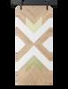 aztec pattern custom barn door with gold accents