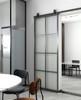 8 pane window french kitchen sliding metal barn door