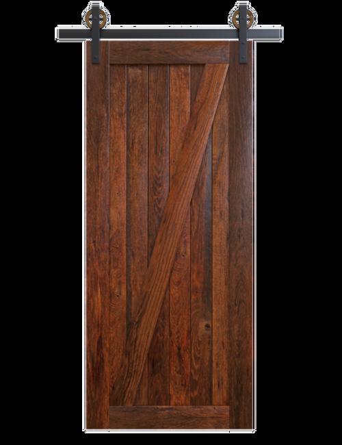 juneau dark stained wood classic z barn door