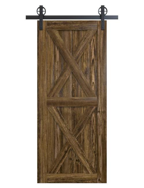 nantucket-dark-stain-wood-barn-door-with-double-x-panel