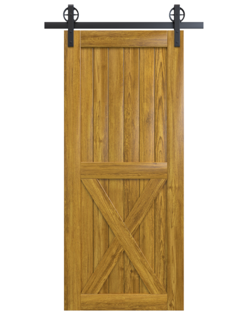 lake placid lake placid stained wood half x panel barn door